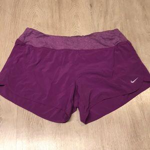 "Purple Nike Women's 3"" Rival Running Shorts"